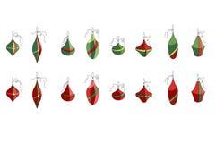 Set of different contour Christmas decoration Stock Photos