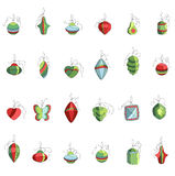 Set of different contour Christmas decoration Stock Photography