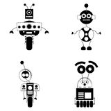 Set Of Different Cute Robots Isolated Royalty Free Stock Photo