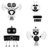 Set Of Different Cute Robots Isolated Royalty Free Stock Images