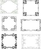 Set of the different decorative frames Stock Photos