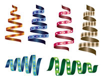 Set of different decorative ribbons. Royalty Free Stock Image
