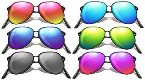 Set of different designs of sunglasses Stock Photo