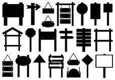 Set Of Different Directional Signs Stock Photo