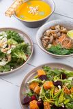 Set of different dishes Stock Photography