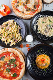 Set of different dishes Royalty Free Stock Images