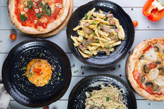 Set of different dishes Royalty Free Stock Photo