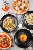 Set of different dishes Royalty Free Stock Photography
