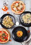 Set of different dishes Stock Photo