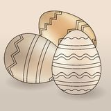 Set of different easter eggs Stock Photos