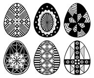 Set of different Easter eggs Royalty Free Stock Image
