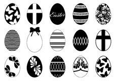 Set of different easter eggs Stock Photo