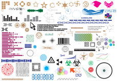 Set of different elements for design Stock Photo