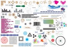 Set of different elements for design vector illustration