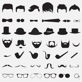 A set of different elements vector illustration