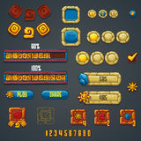 Set of different elements and symbols for web design and compute. R games Royalty Free Illustration