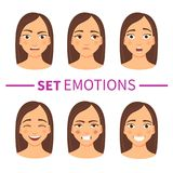 Set of different emotions royalty free illustration