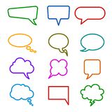 Set different empty speech bubble, chat sign - vector. Set different empty speech bubble, chat sign - stock vector stock illustration