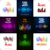 Set of different equalizer icons. Royalty Free Stock Photo