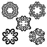 Set of different ethnic signs. Geometric symbols on white background. Vector illustration. Could be used for tattoo, logo and icon design , web-design Stock Photo