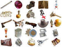 Set from different everyday items. From my portfolio Stock Photo