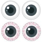 Set of different eyeballs. Illustration Stock Photography