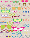Set of different eyeglasses Stock Photos
