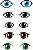 Set of different eyes Royalty Free Stock Photography