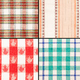 Set of different fabric texture Royalty Free Stock Image