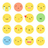Set of different face emotions. royalty free illustration