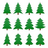 Set of different fir trees. Christmas collection. Vector illustration. Set of different fir trees. Christmas collection. Vector illustration eps10 Royalty Free Stock Photos