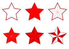 Set of different Five-pointed stars Stock Photos