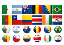 Set Of Different Flags Of The World Royalty Free Stock Photos