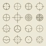 Set of different flat Crosshair sign icons. Vector Illustration Stock Image