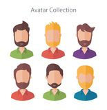 Set of different flat male vector characters vector illustration