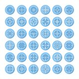 Set of different flat vector crosshair sign icons Royalty Free Stock Images
