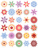 Set of different flowers (vector). Set of different single flowers (vector illustration Stock Image