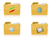 Set of different folders Stock Image