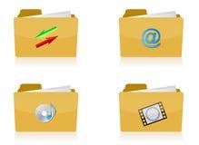 Set of different folders Stock Image