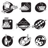 Set of different food icons Royalty Free Stock Photography
