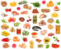 Set of different food Stock Images