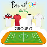 Set Of Different Football Soccer Uniform Shirts Stock Photography