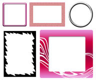 Set of different frames Royalty Free Stock Photos