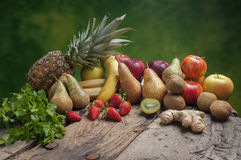Set of different fresh fruits Stock Images