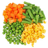 Set of different frozen vegetables Stock Images