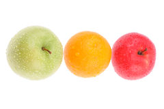 Set of different fruits Stock Images