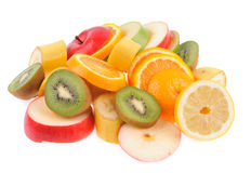 Set of different fruits Stock Photos