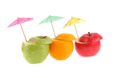 Set of different fruits Stock Photo