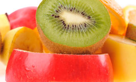 Set of different fruits Royalty Free Stock Images