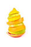 Set of different fruits. Healthy eating concept Royalty Free Stock Images